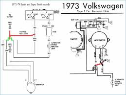 wiring diagram for an alternator kanvamath org VW Bug Alternator Wiring vw beetle alternator conversion wiring data set \u2022