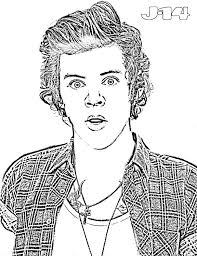 Harry Styles Coloring Page Dapmalaysiainfo