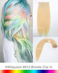 high quality 613 white blonde clip in hair extensions diy dye cp01 queenhair com