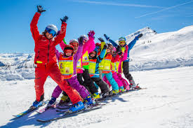 Image result for Kids skiing