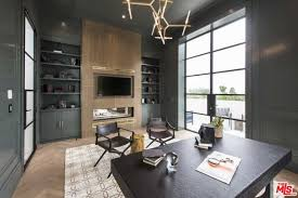 outside home office. Lebron James Also Has A Home Office In His Mansion That Features An Amazing View To Outside Through The Tall And Wide Glass Window.