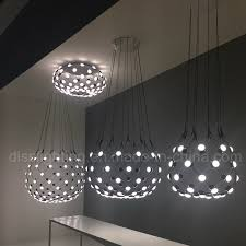 modern decorative for project lighting acrylic black white mesh led chandelier lamp