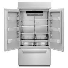 Kitchen Aid French Door Kitchenaid 42 In W 242 Cu Ft Built In French Door Refrigerator