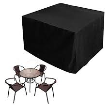 black garden furniture covers. JTDEAL Garden Furniture Cover Oxford Polyester Waterproof Patio Table Covers Outdoor For Rattan Black E