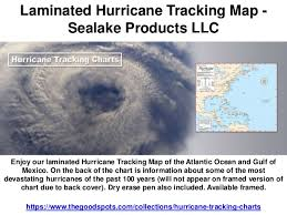 Laminated Hurricane Tracking Map Sealake Products Llc