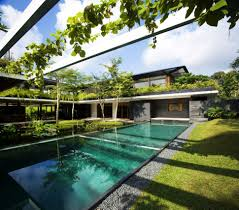 Architecture:Modern Tropical House Design With Outdoor Swimming Pool  Stunning Modern Homes Architecture Ideas