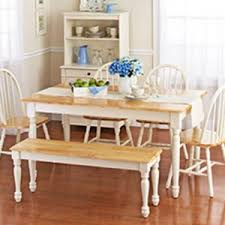 quick view white dining room set with bench this