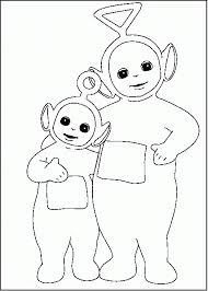 Teletubbies Tinky Winky And Po Coloring