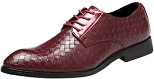<b>Men's England</b> Leather Business Shoes, <b>Pointed</b> Toe Lace Comfort ...