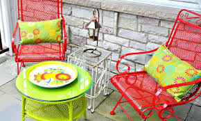 painting metal outdoor furniture chalk paint patio chair makeover repainting metal garden furniture