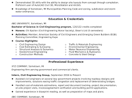 Great Resume Examples Civil Engineer Entry Level Pictures
