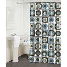 gray and blue shower curtain. @overstock - this vintage squares blue shower curtain by famous home fashions features a fun gray and /