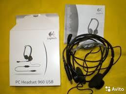 USB <b>Гарнитура Logitech Stereo Headset</b> 960 купить в Калужской ...