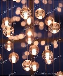led bocci lighting crystal chandeliers modern pendant lamp light for living room bedroom hotel meteor rain led glass ceiling lamps fixtures