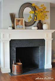 dear lillie a simple autumn mantel soapstone fireplace