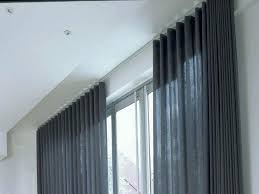 mounting curtains ceiling mounted curtain track system