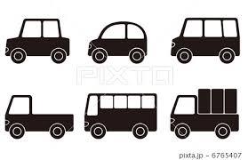 自動車 白黒 いろいろのイラスト素材 6765407 Pixta