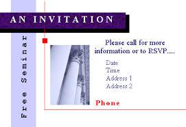 Seminar Invitation Templates Seminar Invitation Template