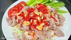 หมูมะนาว สูตรแซ่บๆลวกหมูให้นุ่มแบบไม่ต้องหมัก Spicy Pork with Lime Salad -  YouTube