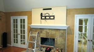 tv above fireplace too high mounting a over a fireplace mount a over