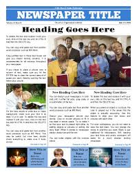 Free Front Page Newspaper Template Newsletter Cover Page Template A Front Page Church Template Try This