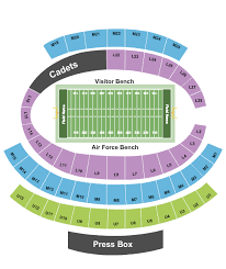 2 Tickets Air Force Falcons Vs Fresno State Bulldogs Football 10 12 19