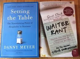 lot of two books setting the table by danny meyer setting