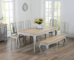 table 4 chairs and bench. mark harris sienna oak and grey 175cm dining set with 4 chairs bench table