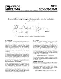 errors and error budget ysis in instrumentation amplifier s pdf available