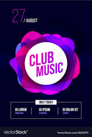 Part Flyer Party Flyer Club Music Poster Dj Lineup Royalty Free Vector