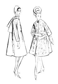 Small Picture fashion coloring pages 1960s Colouring In Fashion Line Drawings