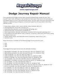 dodge journey repair manual 2009 2011