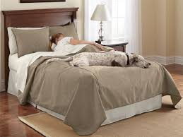 interior dog proof bedding reversible coverlet and matching shams regular pet hair resistant 3