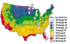 Plant Zones Map Average Us First And Last Frost Dates