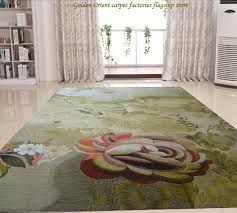 New Product 100% Wool Carpet Embroidered 13 Kinds Color Woven