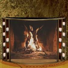 images lovely ideas tealight fireplace log wildon home resin