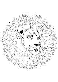 Coloriage Mandala Lion Sur Hugolescargot Com