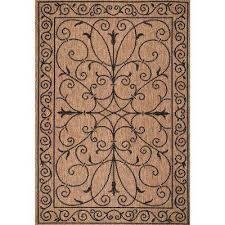 kathleen krem brown 9 ft x 13 ft outdoor area rug