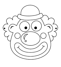 Clown Circus Masker Kleurplaat Carnaval Clown Gezichten