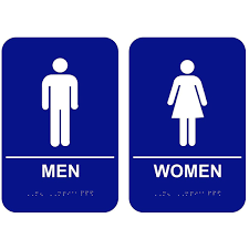 Image Ada Blue Men Women Ada Restroom Signs Custom Signs Blue Ada Men Women Restroom Signs Set Custom Signs