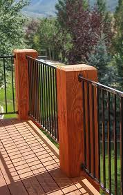 ipe deck railing options