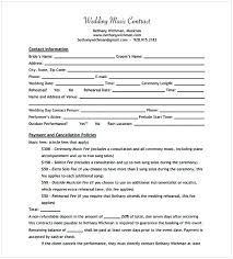 Music Contract Music Contract Template Cycling Studio