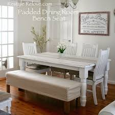 Kitchen Table With Bench Set Restyle Relove Padded Dining Room Bench Seat With Removable