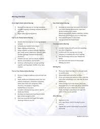 Move Checklist Template Moving Checklist Template In Word And Pdf Formats