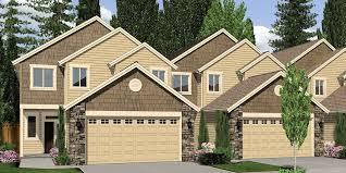 100  Quadplex Plans   Narrow Urban Home Plans Small Narrow Lot Quadplex Plans