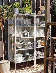 A kitchen cabinet outdoors is super handy for an outdoor kitchen