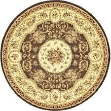 wayfair round rugs brown area rug 8 round rug pad needed no polypropylene origin turkey pile