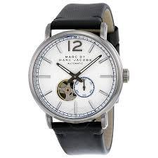 men ravishing marc jacobs watches fergus silver dial black men ravishing marc jacobs watches fergus silver dial black leather mens watch macys nz uk