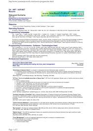 Sample Programmer Resume Sample Programmer Resume Valid Resume Programming Best Sample 9
