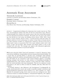 automatic essay assessment pdf available